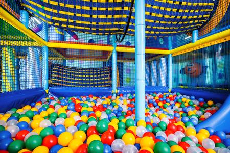 Modern children playground indoor Stock Photo