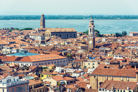 Aerial panoramic view of Venice, Italy