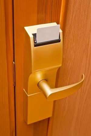 room access: Door lock in the hotel room. Card key.