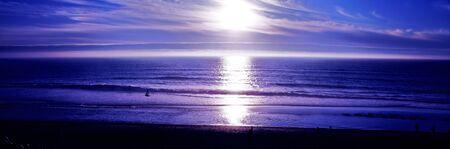 Beach Panoramic Ocean Scene