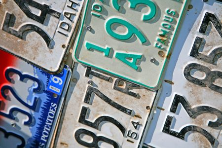 decades: Idaho License Plates From Differrent Years