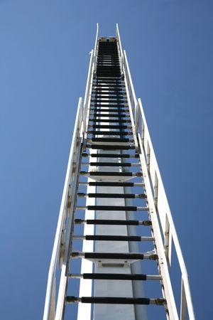 Ladder tot aan de hemel Stockfoto