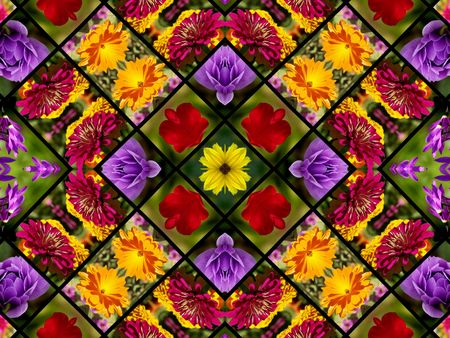 Flower Photo Quilt One of a Kind Design