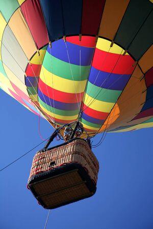 Colorful Hot Air Balloon Ride Closeup photo