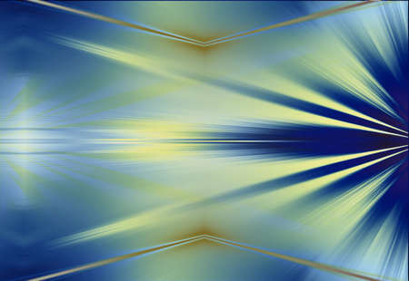 cybernetics: Blue with Gold Ray Abstract Original Background