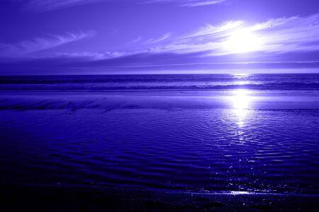 Blue Ocean Sunset Standard-Bild