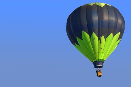 Colorful Hot Air Balloon Ride with Copy Space Фото со стока