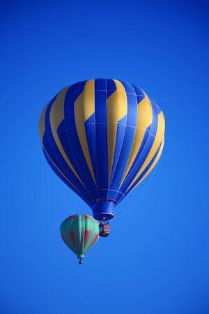 Colorful Hot Air Balloon Ride Фото со стока
