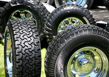 traction: New Large Truck Tires with Chrome Rims
