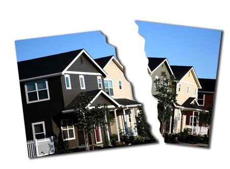 torn: Photo Illustration of Mortgage Break Down