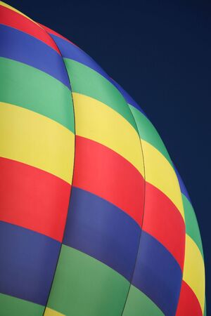 Colorful Checkered Hot Air Balloon Closeup