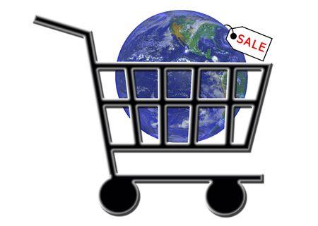 shoppingcart: SALE - Shopping Cart Internet WWW E-commerce Stock Photo