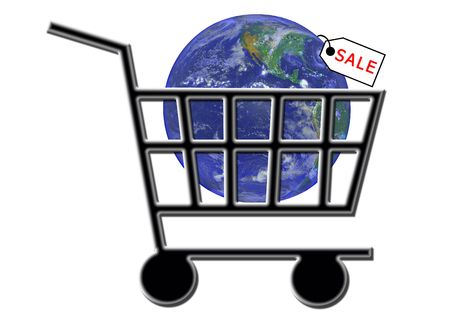 SALE - Shopping Cart Internet WWW E-commerce Stock Photo