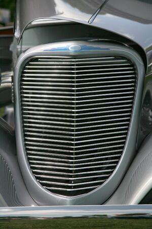 アンティークの車のグリル 写真素材