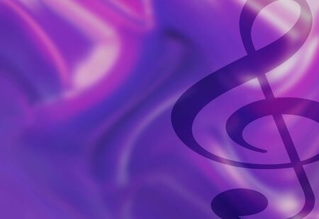 Colorful Treble Clef Musical Background Illustration