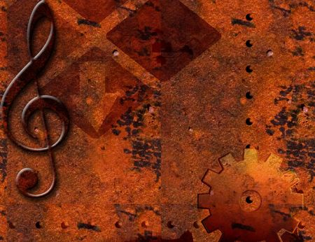 Rusted Metal Grunge Background photo