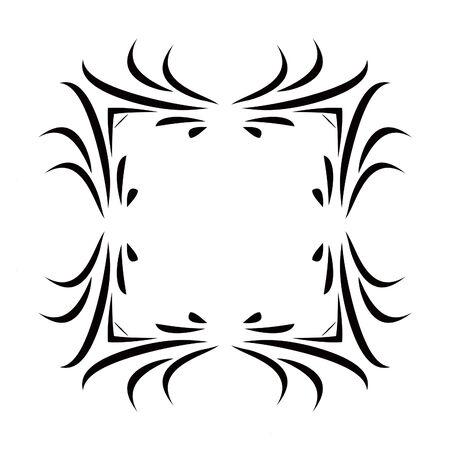 Black & White Scroll Frame Background Vector