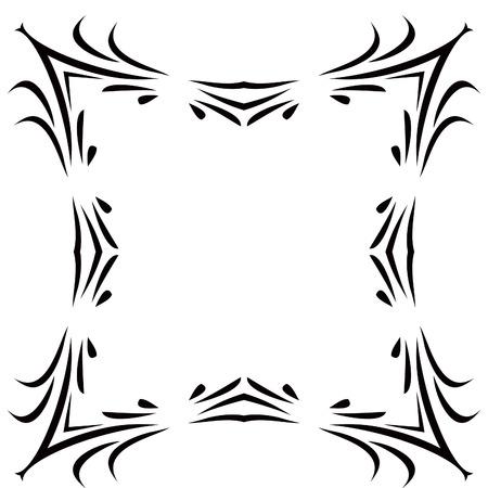 scroll border: Black & White Scroll Frame Background Illustration