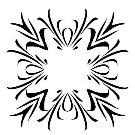 Black & White Scroll Frame Background Illustration
