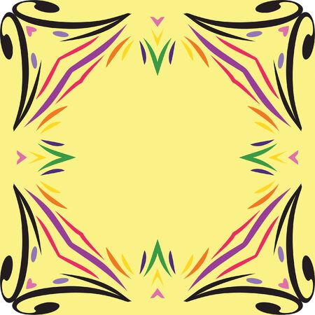 Whimsy and Fun Vector Border Frame