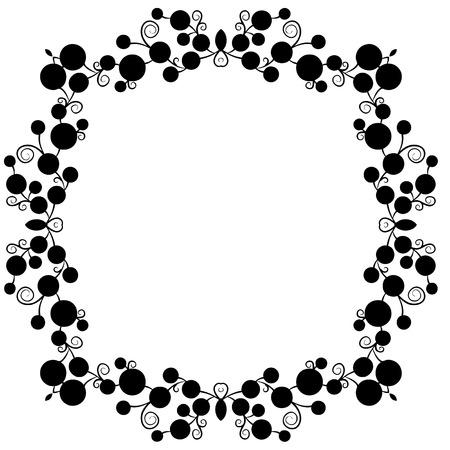 Polka Dot Vector Frame