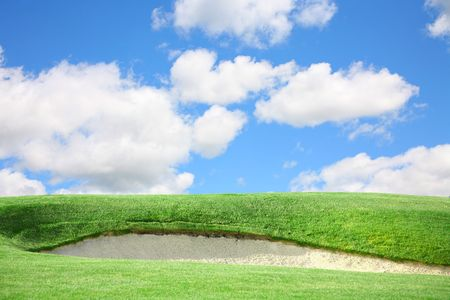 Golf Course Greens Sand Trap Stock Photo - 4474870
