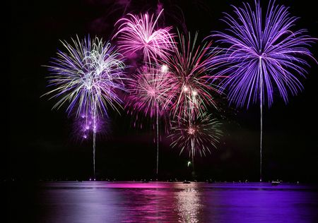 finale: Colorful Fireworks for the Grand Finale over Lake