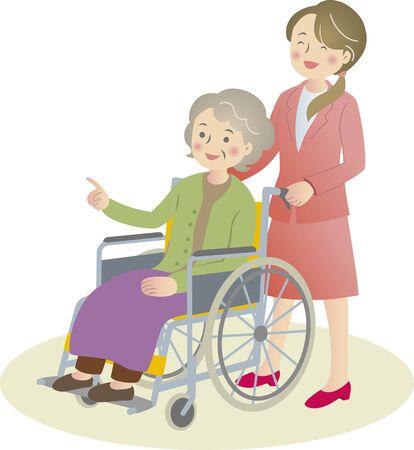 long term: Silla de coche de cuidado de ancianos