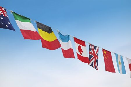 flags of the world: Athletic meet the national flag of the world