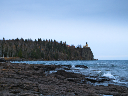 Split Rock Lighthouse on the north shore of Lake Superior near Duluth and Two Harbors, Minnesota Banque d'images