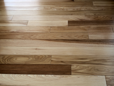 Hickory wood natural floor for use as texture background