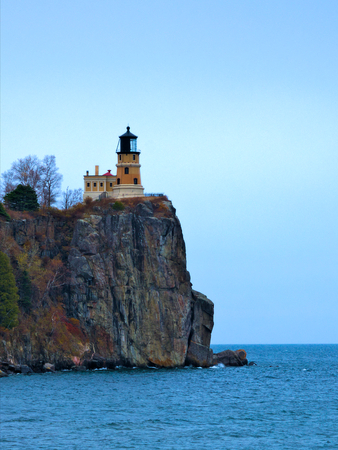 Split Rock Lighthouse on the north shore of Lake Superior near Duluth and Two Harbors, Minnesota 版權商用圖片
