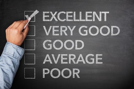 uitstekend: Excellent result on survey on blackboard