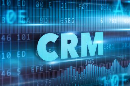CRM - Customer Relationship Management concept blue text photo