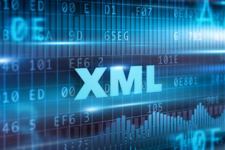 XML 抽象的概念青い青い背景