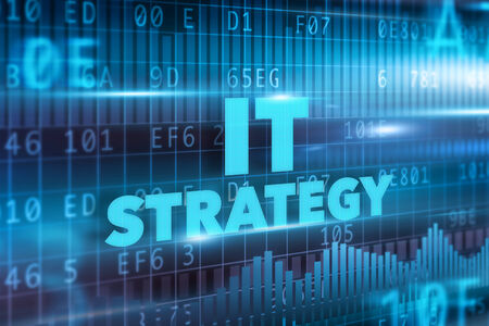 resourcefulness: IT strategy concept blue background blue text