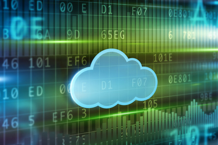 Cloud computing concept Standard-Bild