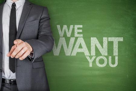 We Want You On Blackboard photo
