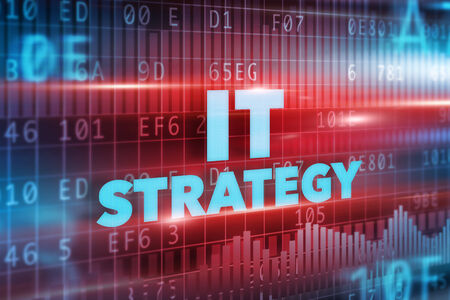 stakeholder: IT strategy concept red background blue text