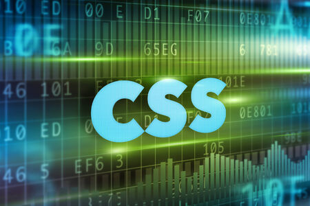 css: CSS concept blue background with blue text