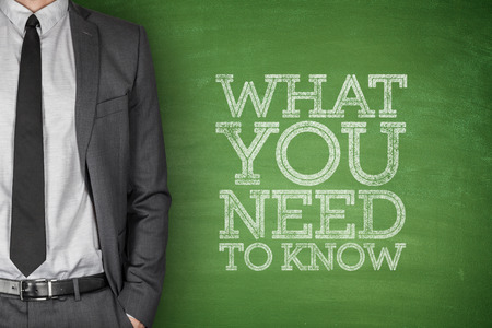 What you need to know on blackboard with businessman