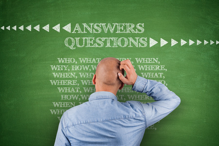 Answers questions, who what where when on blackboard