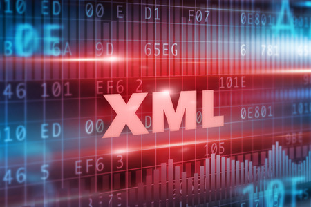 XML abstract concept red text red background