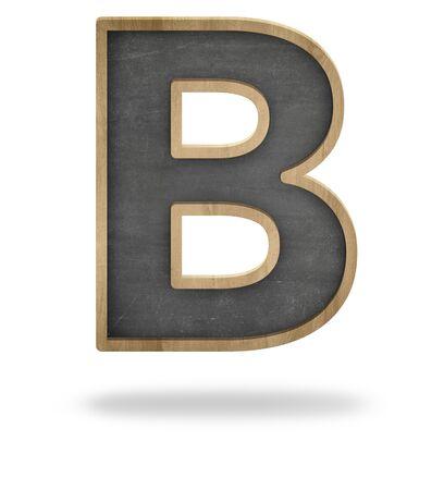 Schwarz Leere Brief Form Tafel Auf Weißem Hintergrund Lizenzfreie