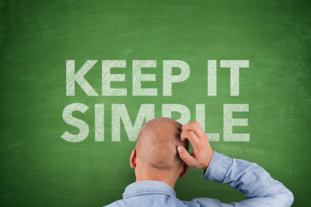 coherent: Keep It Simple on green Blackboard white text