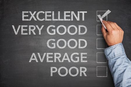 verry: Excellent result on survey on black blackboard