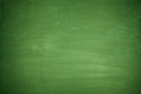 Totally blank green blackboard with nothing on board Imagens