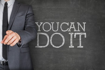 You can do it on blackboard with businessman finger pointing