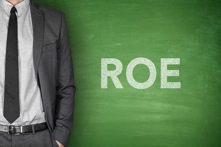 equidad: Rendimiento sobre el capital en la pizarra verde con el empresario