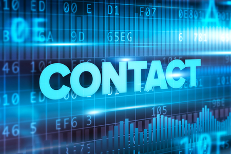Contact Text Displayed On Interface Screen Stock Photo